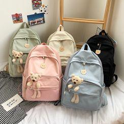 OUCHA - Bear Applique Lightweight Backpack