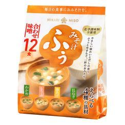 Hikari Miso - 4 Types Mix Miso Soup Bag (Pack of 12)