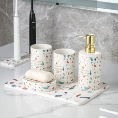 Hashi - 印花陶瓷牙刷杯 / 肥皂架 / 泵咀瓶
