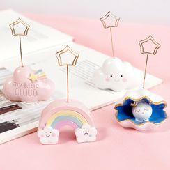 Coco Store - Resin Cloud / Rainbow / Shell Memo Clip