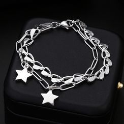 Juanitro - Star Charm Layered Chain Bracelet
