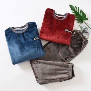 Dogini - 情侣款家居服套装: 法兰绒套衫 + 家居裤
