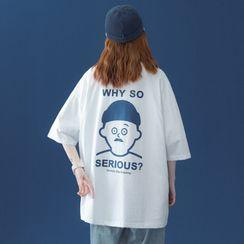 Breeson - Short-Sleeve Cartoon Print T-Shirt