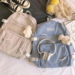 Anna Momo - Buckled Nylon Backpack