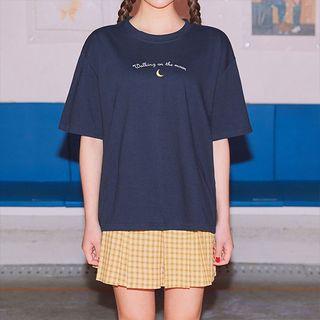 icecream12 - Embroidered Crewneck T-Shirt