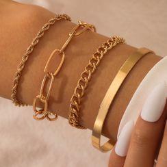 Yongge - Set of 4: Chain Bracelet