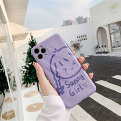 Witheart - Girl Print Mobile Case - iPhone 11 Pro Max / 11 Pro / 11 / XS Max / XS / XR / X / 8 / 8 Plus / 7 / 7 Plus / 6s / 6s Plus
