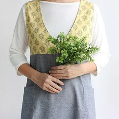 iswas - V-Neck Pattern Apron