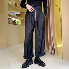 ANCHO - Tie-Waist Wide Leg Pants