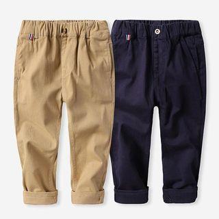 Happy Go Lucky - Kids Elastic Waist Cotton Pants