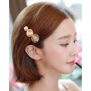 Miss21 Korea - Filigree Circle Motif Hair Clip