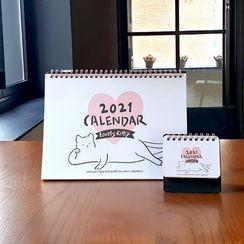 BABOSARANG - 'Lovely Kitty' 2021 Desk Calendar with Sticker (M)
