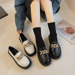 QQ Trend - Chain Platform Loafers