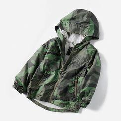Happy Go Lucky - Kids Camo Hooded Jacket