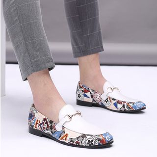 Snowpard - Print Panel Buckled Loafers