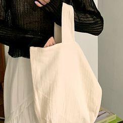 FROMBEGINNING - Plain Cotton Shopper Bag