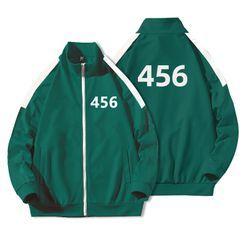 JECKO - '456' Printed Zipped Jacket