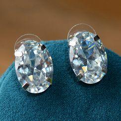 Ashmi - Rhinestone Stud Earring