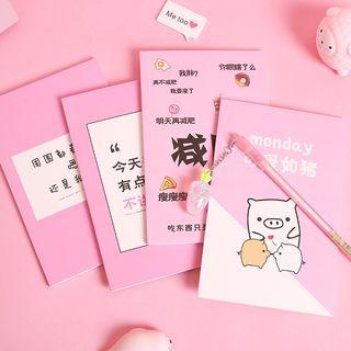 Eranso - 字母 / 卡通印花中号笔记本