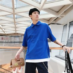 Cowpow - Elbow-Sleeve Polo Shirt