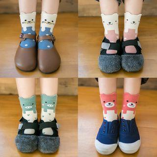 Pinky Promise - 立體動物印花童裝襪子
