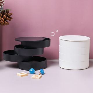 Case in Point - 4-layer Round Plastic Desk Organizer