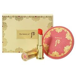 The History of Whoo - Gongjinhyang Mi Glow Lip Balm (Red) SPF10 Special Set: Lip Balm 1pc + Hand-Sized Mirror 1pc
