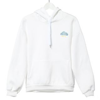 Acrius - Weather Motif Embroidered Hoodie