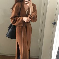 Mimi Lulu - Long-Sleeve Knit Long Jacket
