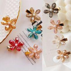 Coolgirl - 仿珍珠花朵发夹