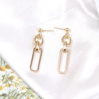 Scoria - Chain Drop Earrings / Clip-On Earrings
