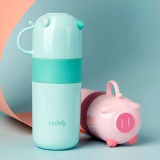 Pagala - 旅行套裝: 牙刷 + 洗漱杯 + 牙膏 + 毛巾 + 旅行分裝瓶