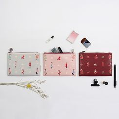 BABOSARANG - Faux Leather 'Anne with Red Hair' Pouch (S)