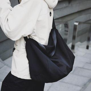 EAVALURE - Plain Nylon Crossbody Bag