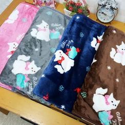 BABOSARANG - Cat Print Lap Blanket
