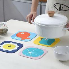 Fun House - Cartoon Print PVC Heat Resistant Mat