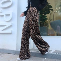 Sevilla - Leopard Print Wide-Leg Pants