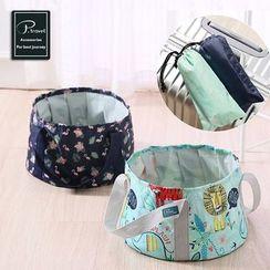 Homy Bazaar - Printed Foldable Fabric Water Bucket