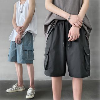 8th Sense - Drawstring Cargo Shorts