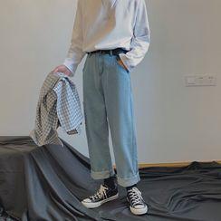 Sartho - High-Waist Straight-Cut Jeans