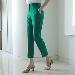 Styleberry - Flat-Front Straight-Cut Pants