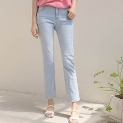 JUSTONE - Washed Straight-Cut Jeans