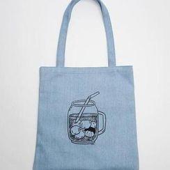 BABOSARANG(バボサラン) - 'SSBA' Series Shopper Bag - Ice Coffee