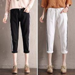 Denimot - Striped Cropped Pants