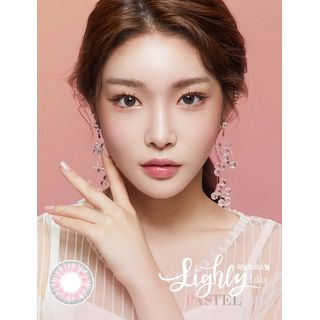 LENS TOWN - Lighly Pastel 1-Day Color Lens #Pink