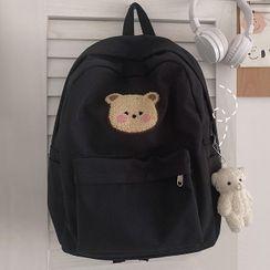 Bolso - Bear Embroidered Nylon Backpack