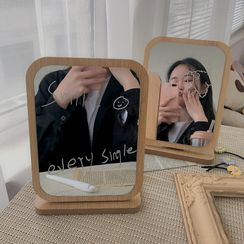 Michu - Wooden Desktop Mirror