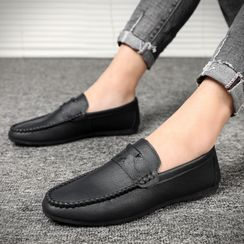 HANO - Plain Faux Leather Loafers