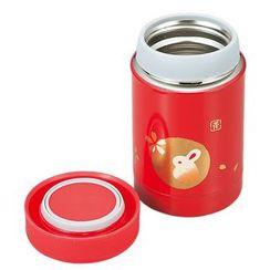 Hakoya - Hakoya Stainless Food Pot Aka Hanko Usagi