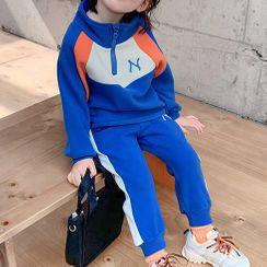 mina diva - Kids Set: Color Block Pullover + Sweatpants